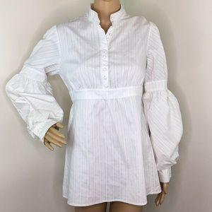 White Puffy Sleeve Blouse